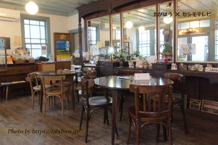 島原市のカフェ「青い理髪舘 工房モモ」