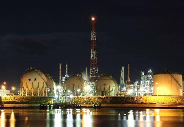苫小牧の工場夜景