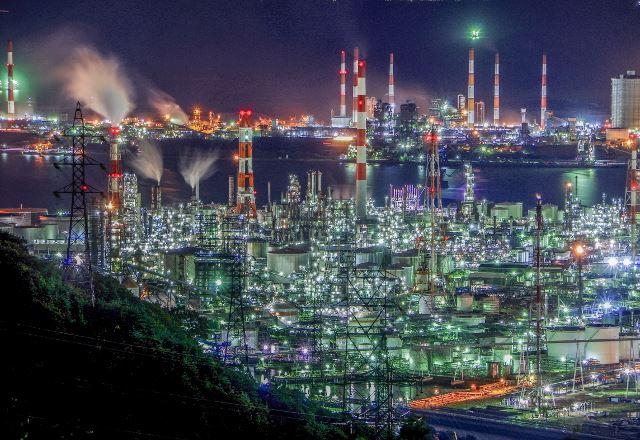 水島の工場夜景