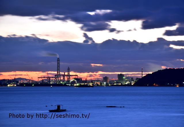 香川県の工場夜景