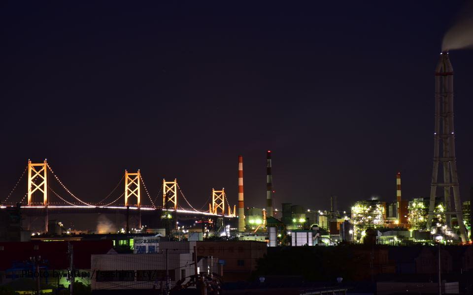 両景橋から瀬戸大橋方面を撮影