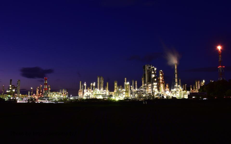 菊間町種から太陽石油四国事業所を撮影