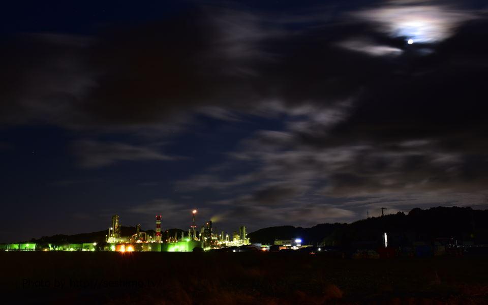 菊間町浜から太陽石油四国事業所を撮影