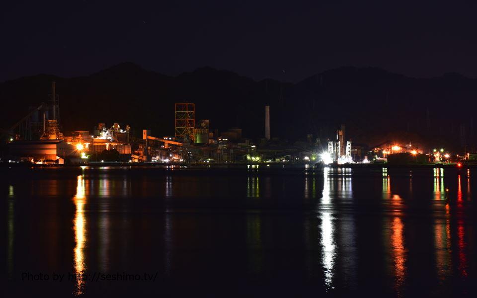 新青柳橋から太平洋セメント土佐工場を撮影