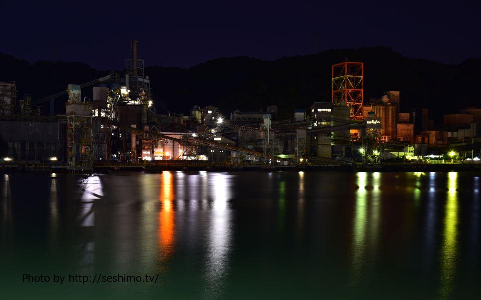 桟橋通6丁目から太平洋セメント土佐工場を撮影