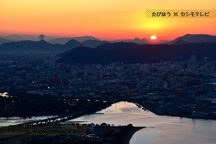 屋島展望台の夕景