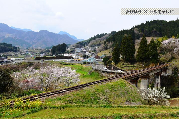 栃又駅付近の鉄道線路跡