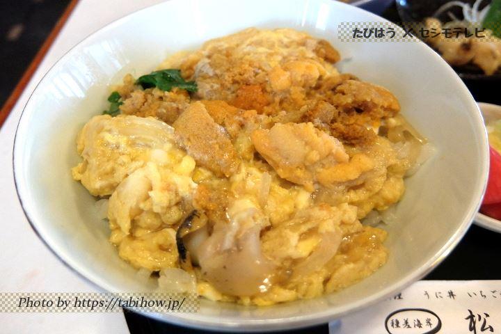 ウニ丼卵とじ