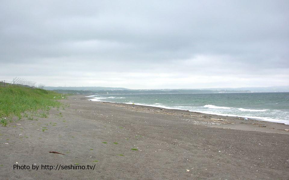 北浜の浜辺